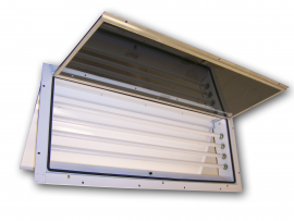 260  |  Panel Mount Vapor/Dust Proof Fluorescent Light Fixture