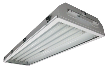 240  |  Front Access Industrial Vapor/Dust Proof Fluorescent Light Fixture