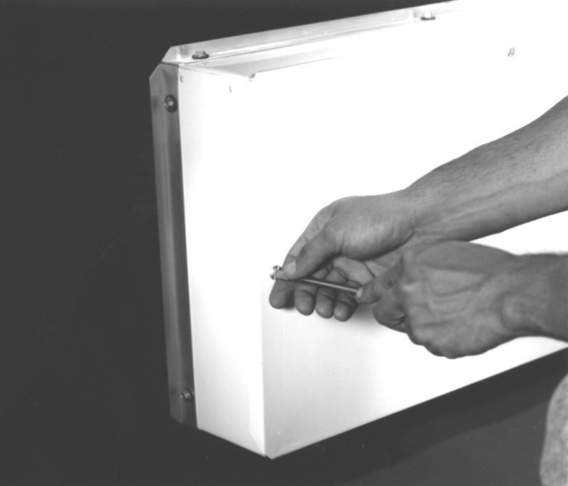 260  |  Panel Mount Vapor/Dust Proof Fluorescent Light Fixture