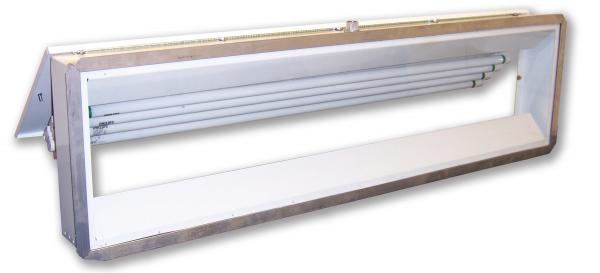 241  |  Rear Access Vapor/Dust Proof Fluorescent  Light Fixture
