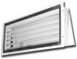 261  |  Panel Mount Vapor/Dust Proof Fluorescent Light Fixture